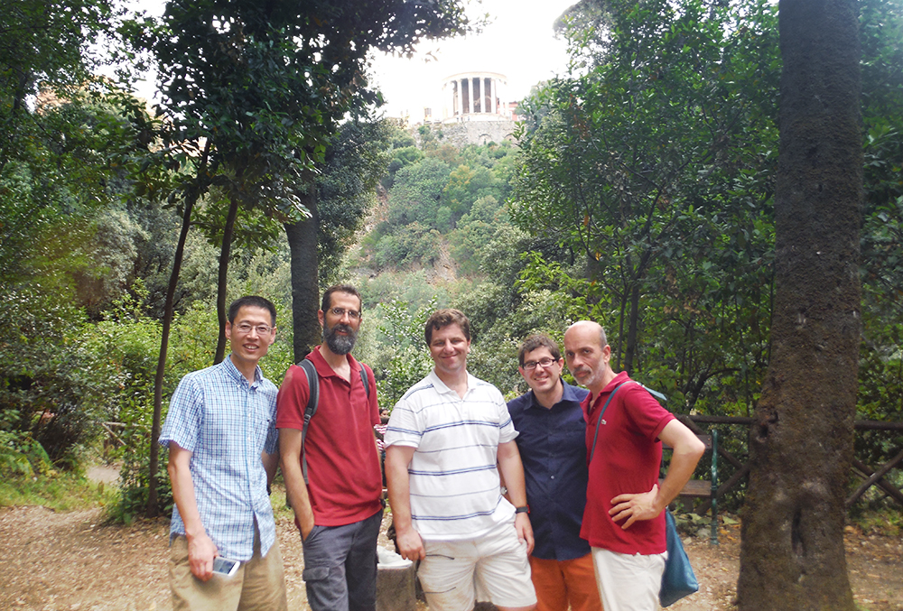 RILA tutors from the left: Lijun Gu, Philip Bartok, Erik Dempsey, Gabe Pihas, Gianpaolo Castelli