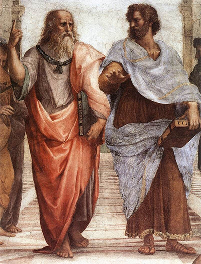 Detail from School of Athens – Plato and Aristotle
